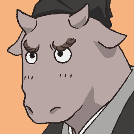 牛顔の中級妖怪